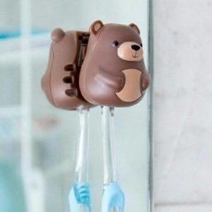 可愛動物牙刷架