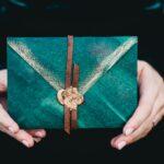 歐式復古孔雀羽毛筆禮盒